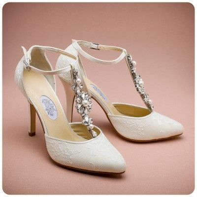 Daisy Hill wedding shoes by Diane Hassall. Available to buy http ...