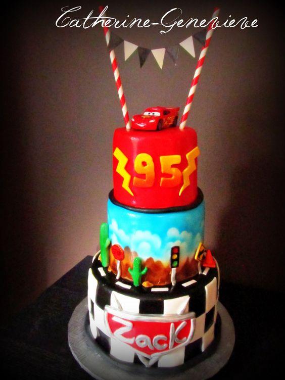 Cars cake, Flash Mcqueen :)