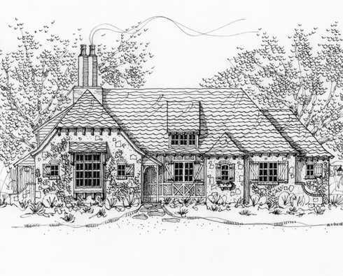 Cottage house plans storybook cottage and cottage house for Storybook cottages floor plans