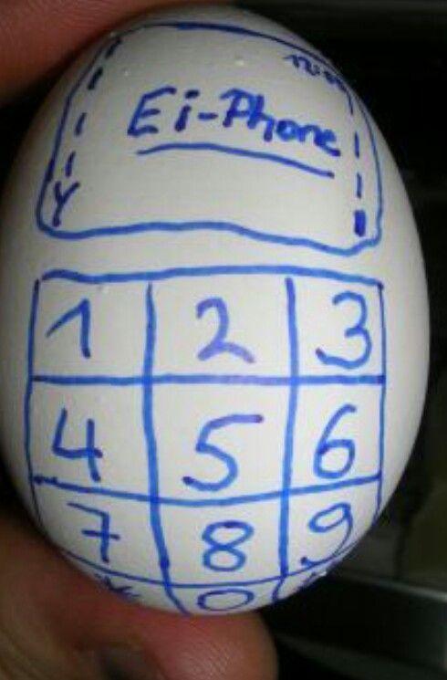 Du must das auf ein ei malen