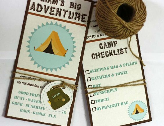 "adventure, campout, outdoors, camp, great outdoors / Birthday ""Liam's Big Adventure - Birthday Party Idea"" 