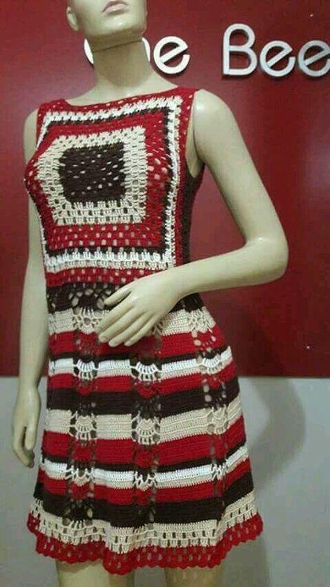 Granny square crochet top/ Fes