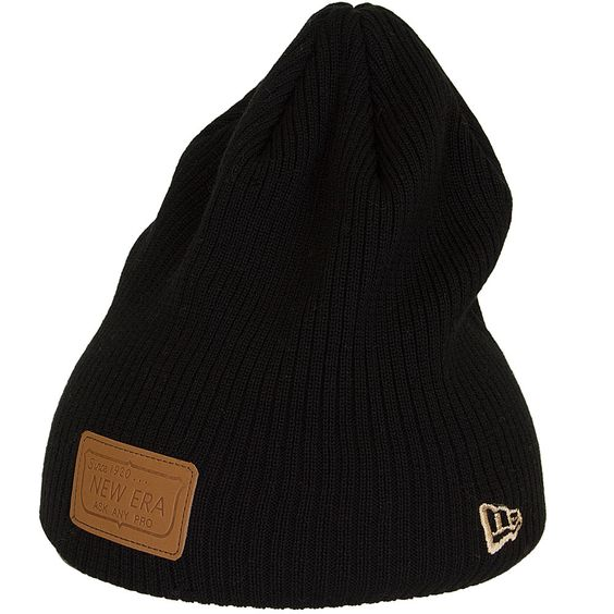 New Era Ribbed Patcher Beanie schwarz ★★★★★