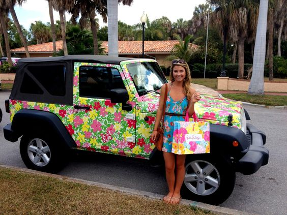 Lilly Pulitzer Jeep :)