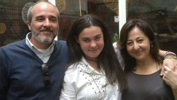 Los actores de la serie, Fernando Guillén Cuervo y Carmen Machi, junto a Haidar