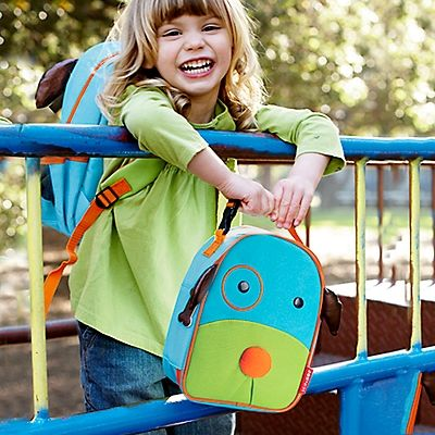 What a fun first lunch box! Kids are charmed by the cute characters, and its scaled-down size is just right for preschoolers.