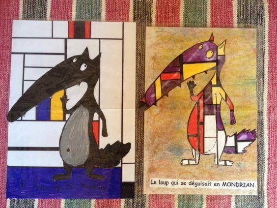 idée: faire un livre du loup qui voulait changer de tableau...