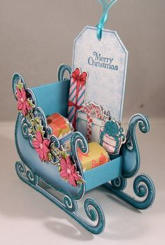 F4A335 Sleigh Treat Holder - front by Clownmom - Cards and Paper Crafts at Splitcoaststampers