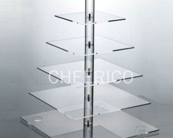 Multi-tier square stand