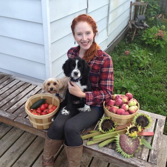 My wife, puppers and a normal weekends fall harvest
