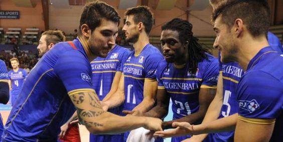 Y'a de la joie chez les Bleus, notamment Nicolas Le Goff et Mory Sidibé. (L'Equipe)