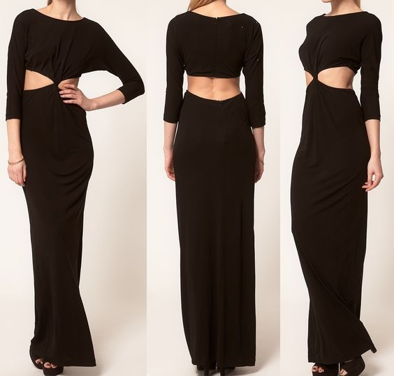 Maxi long sleeve open back long Dress Long Sleeve.  Price $58.00 Free Shipping On All Orders website www.jeanfrancoisboutique.com