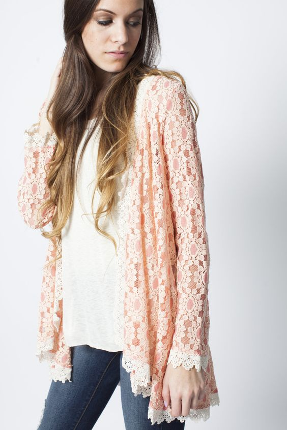 Mila Floral Cardigan | Vinnie Louise Products | Pinterest | Products
