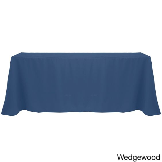 Charming Solid Color 90 X 156 Inches Colorful Tablecloth (Wedgewood), Blue