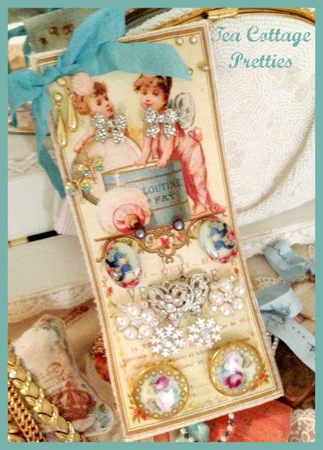 Chá Casa Pretties: bonecas de pano - Bonecas EUA e uma placa de BRINCO