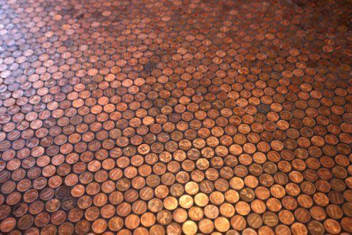 After reading about indoor pallet floors, the penny floor sounds like a better option for my kitchen...