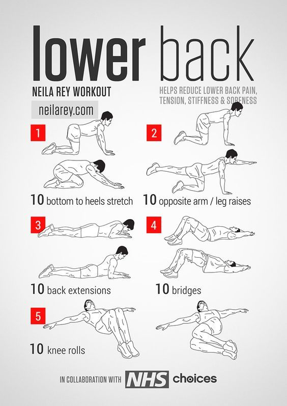 Lower Back Workout / Helps reduce lower back pain, tension, stiffness & soreness. #fitness #workout #lowerbackpain::