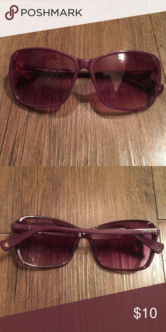 COACH sunglasses Authentic purple coach sunglasses  no case Coach Accessories Sunglasses