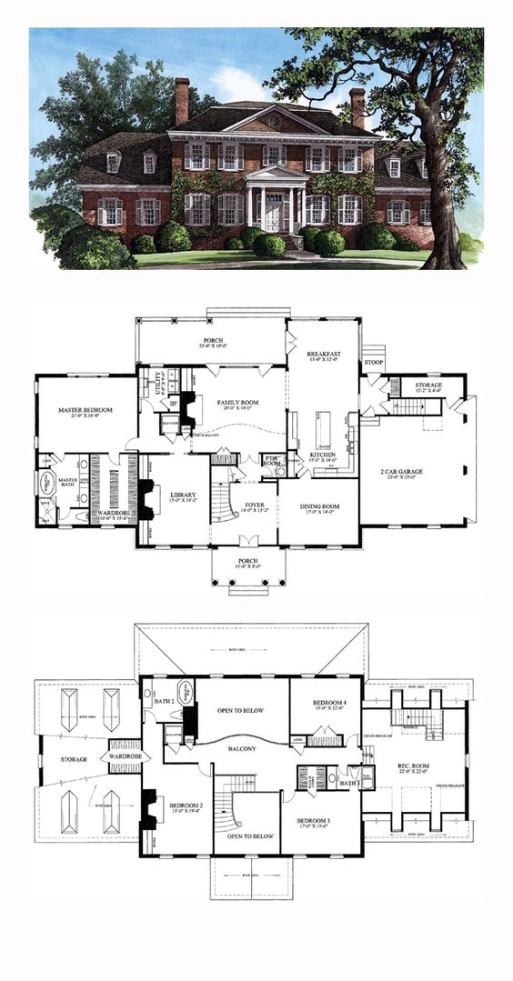 Plantation houses house plans and bedrooms on pinterest for Plantation floor plan