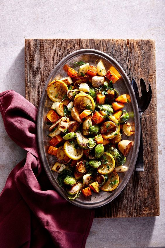 Lemon-Herb Sheet Pan Roasted Vegetables