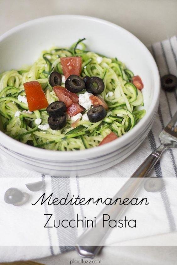 Mediterranean Zucchini Pasta - The World According To Plaidfuzz