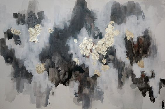 Original painting by Christine Olmstead called Grey Stone prints and gifts available in the store.