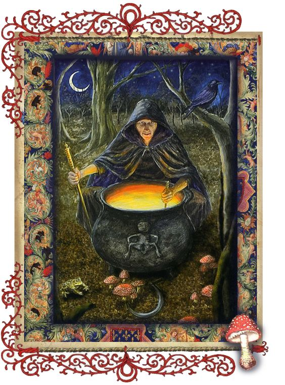 Crone Cerridwen page by Grim, scrapbook, art journal, Book of Shadows