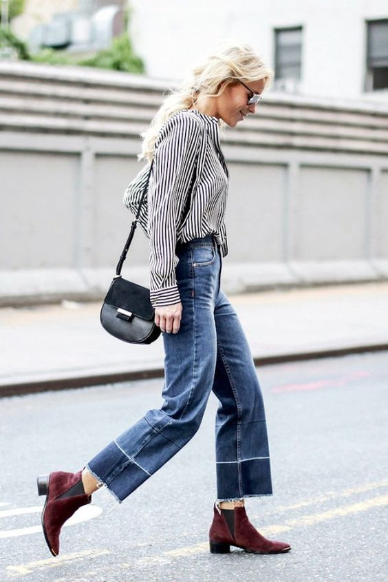 This Denim-and-Boots Combo Is Spot-On for Fall: