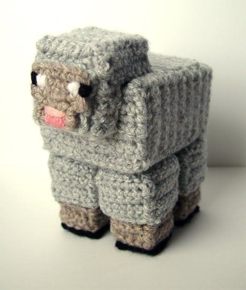 Orca Amigurumi Free Pattern : Crochet Minecraft Sheep baby things Pinterest ...