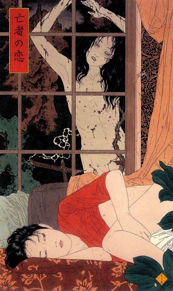 Az alkotó Takato Yamamoto. Még a Kelet-európai szemnek is elég erősek a képei, hát még egy nyugatinak...