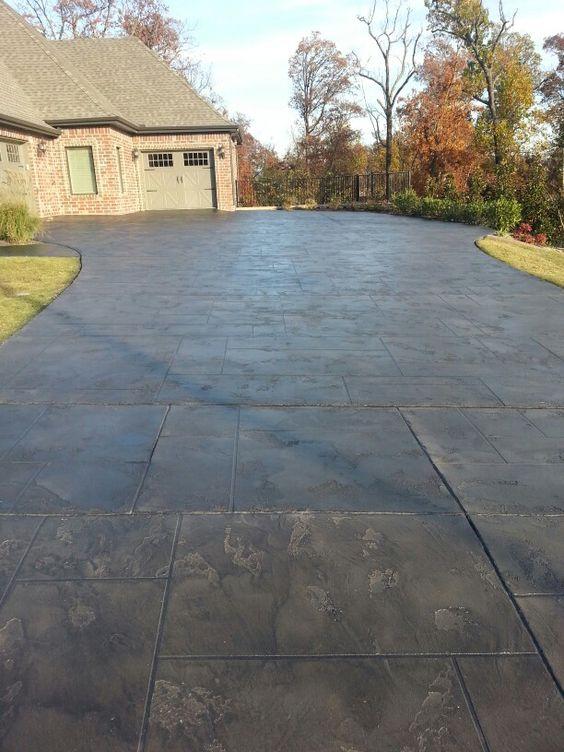 Concrete Overlay Concrete Design And Slate Tiles On Pinterest