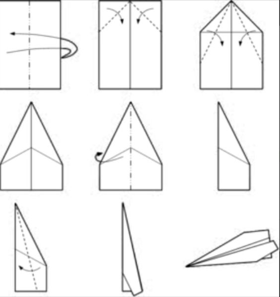 Beautiful Printable Paper Airplane Templates Gallery  Example