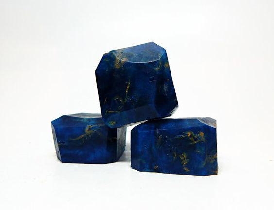 Lapis Lazuli Shaped Rock Soap