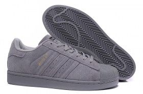 Unisex Adidas Originals SuperStar 80s Berlin Suede Dark Grey Shoes