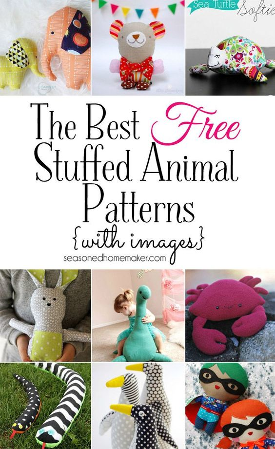 Softies, Plushies, Stuffies, or Stuffed Animals. Any name will do. This collection of The Cutest Free Stuffed Animal Patterns will put a smile on your face. There's something for everyone. Don't forget: Sewing softies is an excellent way to make a good use of those sewing scraps and an ideal project for sewing beginners.: