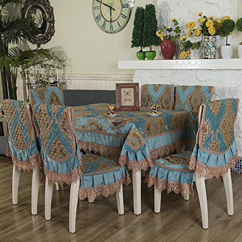 Huashao The Dining Table Dining Chairs Cushions Upholstery Fabrics Set The Chair Back C Dining Table Cloth Chair Back Covers Dining Table With Bench