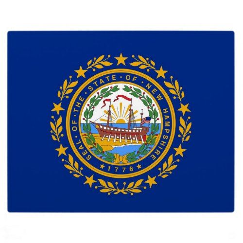 New Hampshire State Flag Plaque Zazzle Com New Hampshire Historical Newspaper State Flags