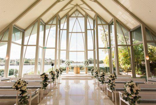 The Wedding Chapel Intercontinental Sanctuary Cove In 2020 Wedding Location Indoor Wedding Locations Chapel Wedding