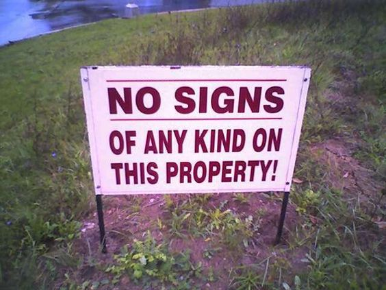 20+ Ironic Signs
