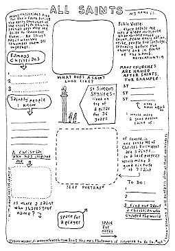 Printables Catholic Worksheets cartoon all about me and saints on pinterest worksheet