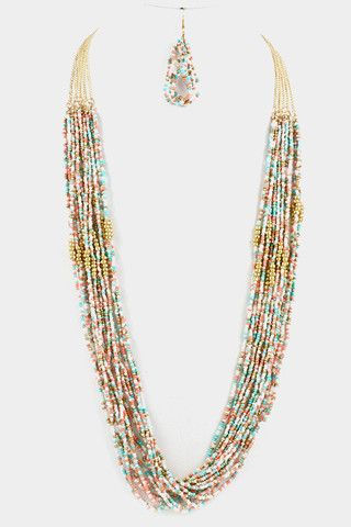 Multi Stranded Necklace Set