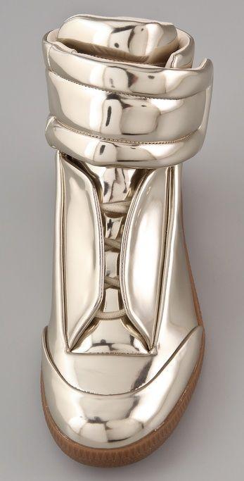 Metallic Flat Sneakers by Maison Martin Margiela