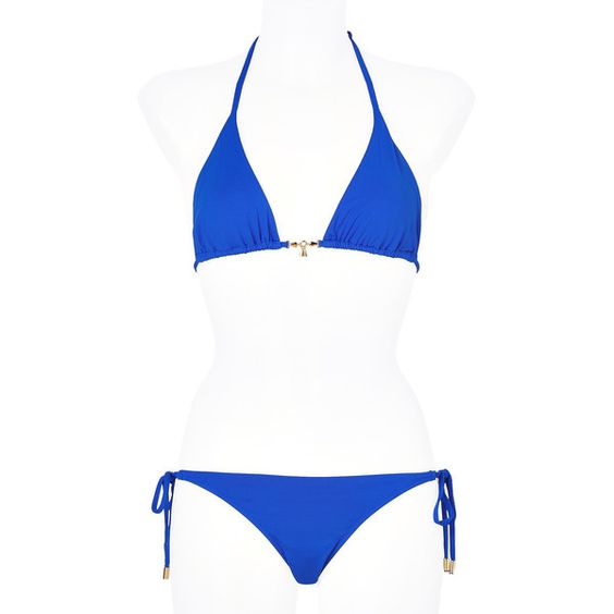 MELISSA ODABASH Electric Blue Dubai String Bikini ($255) ❤ liked on Polyvore