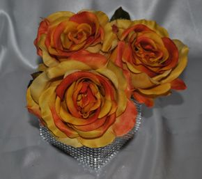 Orange rose flower pens are great for fall wedding favors, or shower gifts!