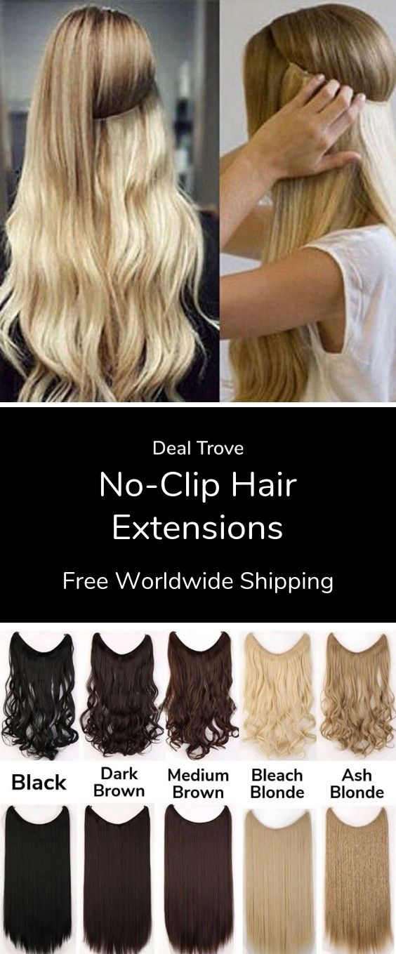 No Clip Hair Extensions With Images Clip In Hair Extensions