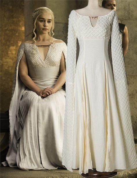 US SHIP Game Of Thrones Season Cosplay Dress Costume Luxury Daenerys Targaryen