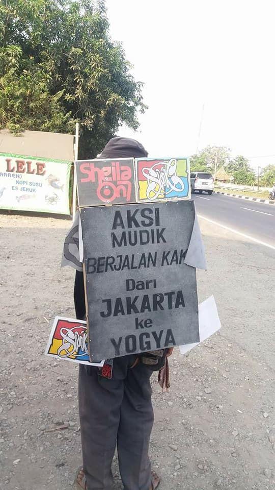 Inilah cara Mahmud menempuh perjalanan lebih dari 500 km dari Jakarta ke Yogyakarta