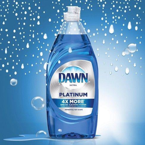 Dawn Platinum Dishwashing Liquid Dish Soap Refreshing Rain 16 2oz Dishwashing Liquid Liquid Dish Soap Clean Ingredients