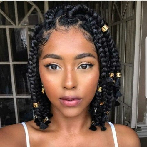 Short And Small Box Braids Hairstyles New Natural Hairstyles Short Box Braids Short Box Braids Hairstyles Bob Braids Hairstyles