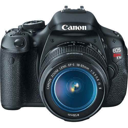 Canon - EOS Rebel T3i Digital SLR Camera with 18-55mm IS Lens - Black - Larger Front